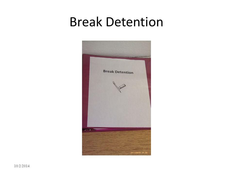 Break Detention 4/6/2017