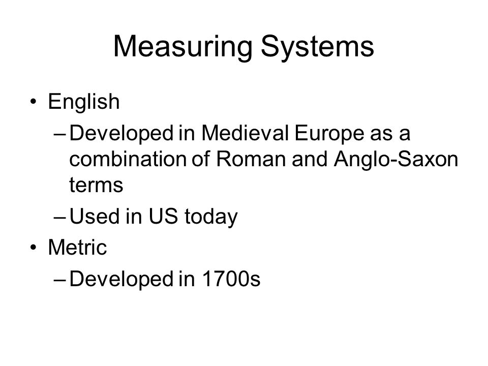 Measuring Systems English