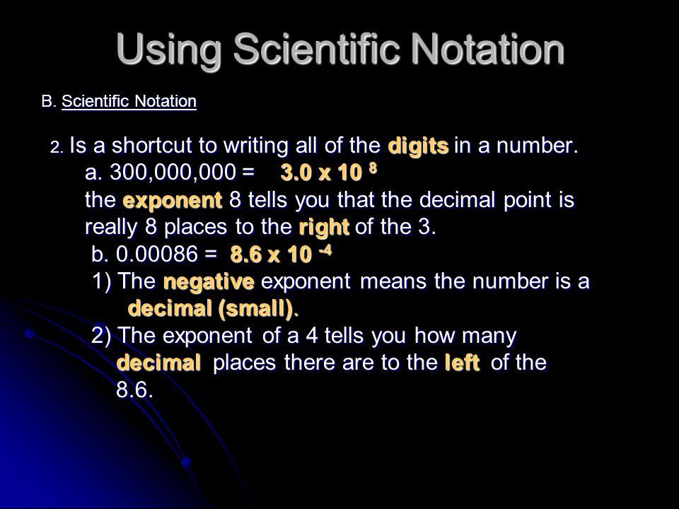 Using Scientific Notation