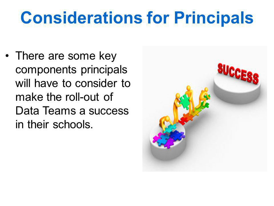 Considerations for Principals