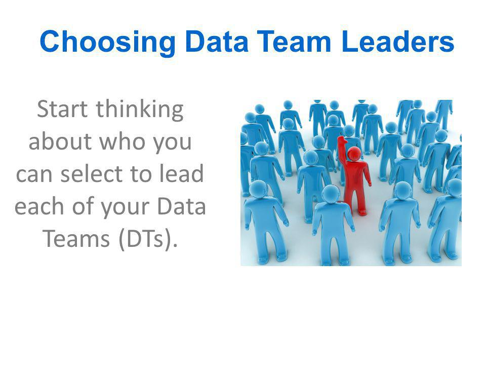 Choosing Data Team Leaders