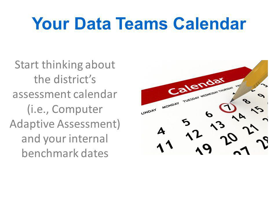 Your Data Teams Calendar
