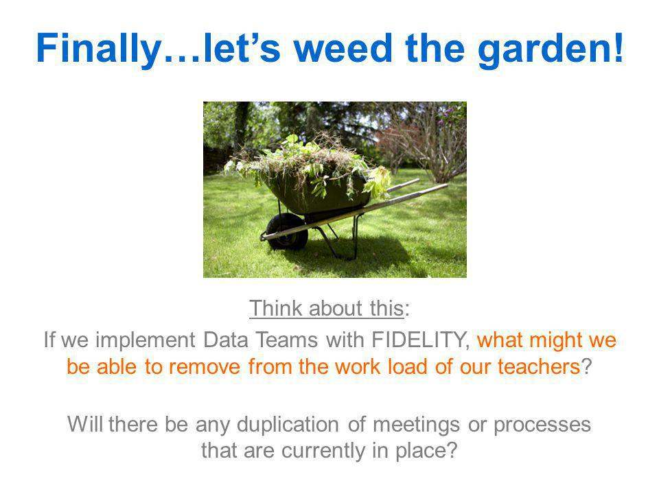 Finally…let's weed the garden!