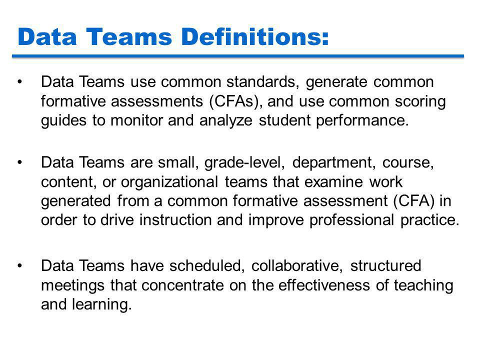 Data Teams Definitions: