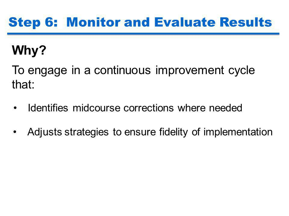 Step 6: Monitor and Evaluate Results