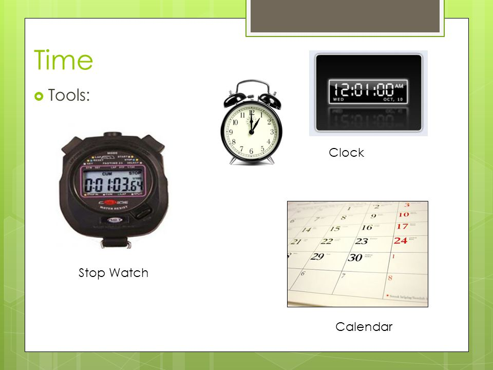 Time Tools: Clock Stop Watch Calendar