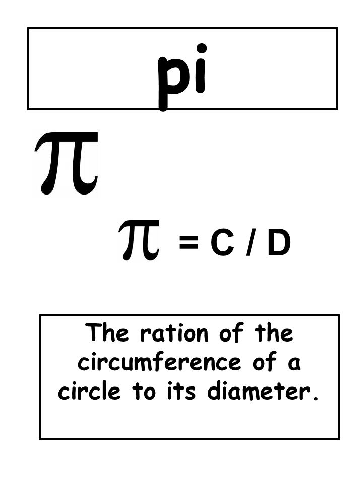 The ration of the circumference of a circle to its diameter.