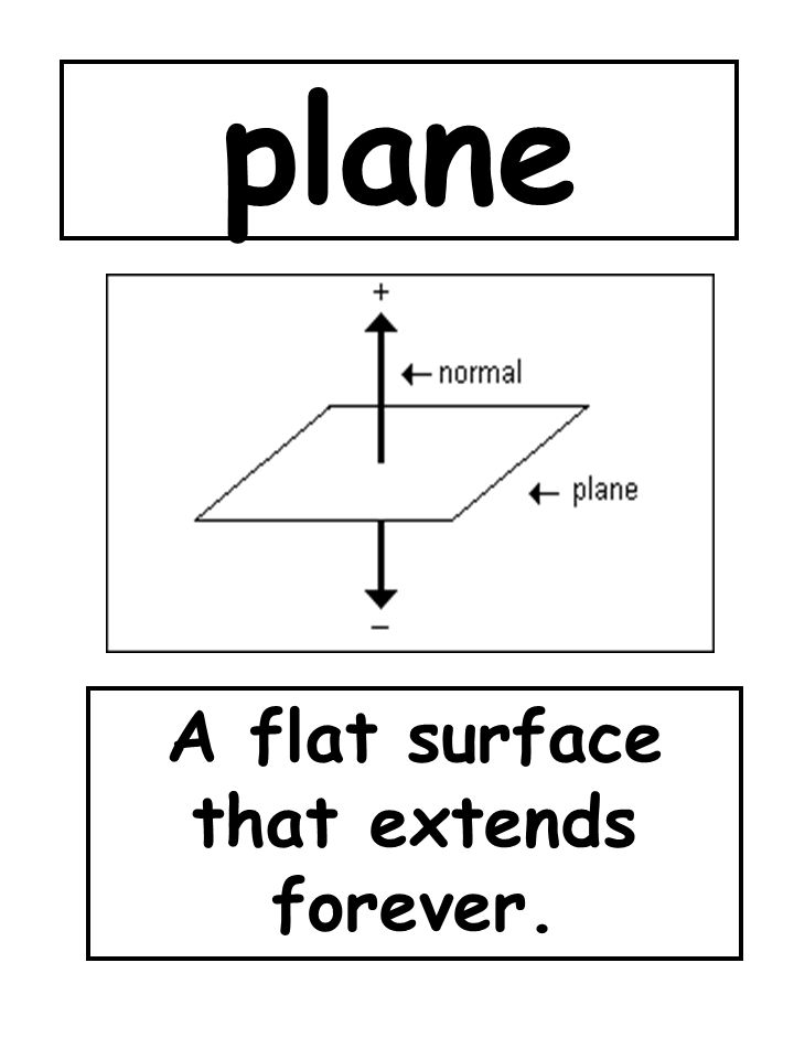 A flat surface that extends forever.