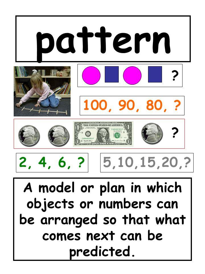 pattern 100, 90, 80, 2, 4, 6, 5,10,15,20,