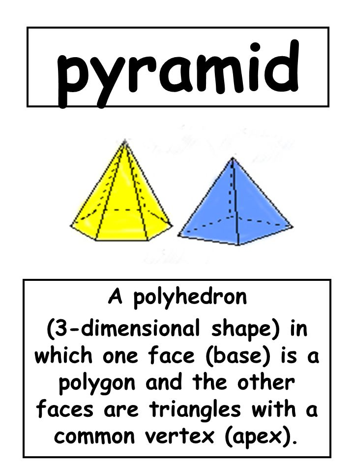 pyramid A polyhedron.