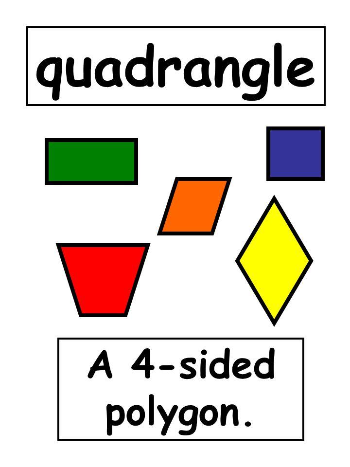 quadrangle A 4-sided polygon.