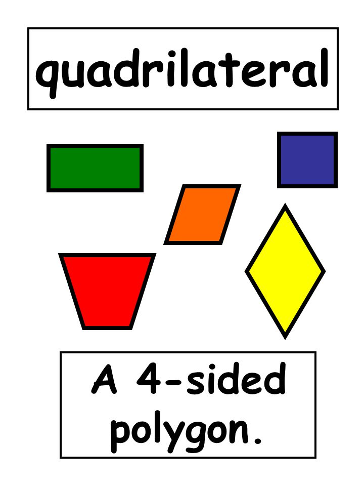 quadrilateral A 4-sided polygon.
