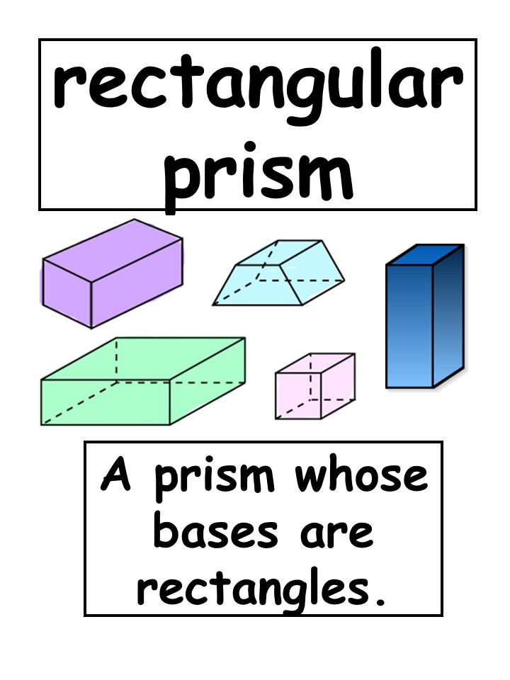 A prism whose bases are rectangles.