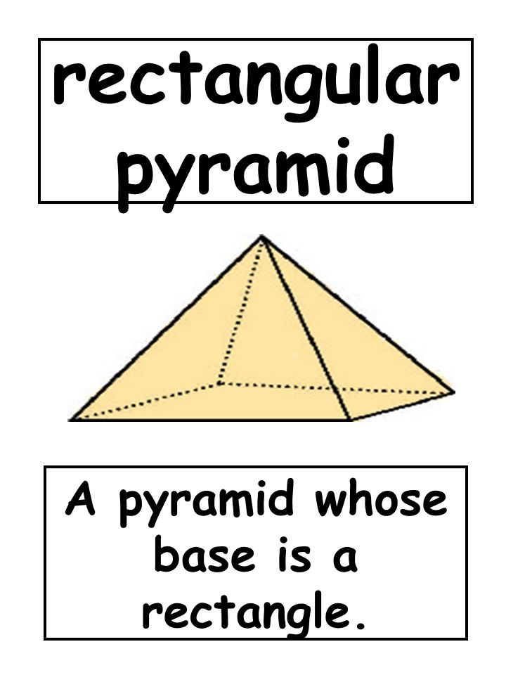 A pyramid whose base is a rectangle.
