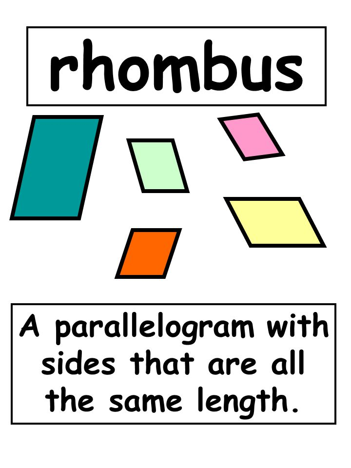 A parallelogram with sides that are all the same length.