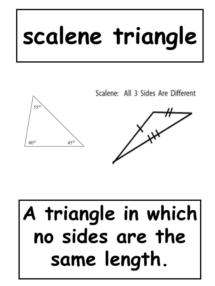 A triangle in which no sides are the same length.