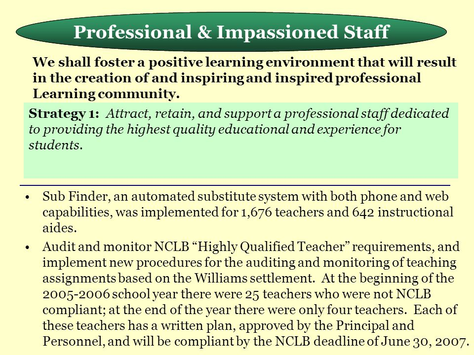 Professional & Impassioned Staff Meeting the Needs of the Whole Child