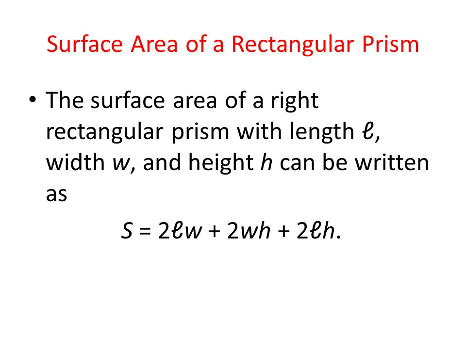 Surface Area Introduction and SA Formula for Rectangular ...