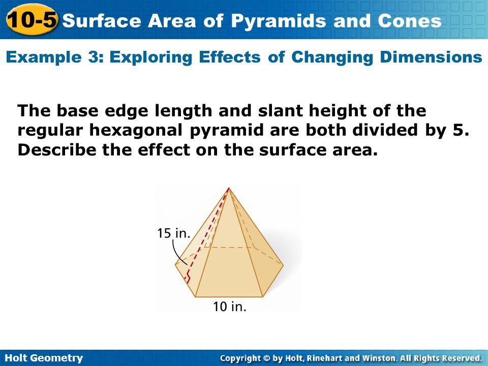 Example 3: Exploring Effects of Changing Dimensions