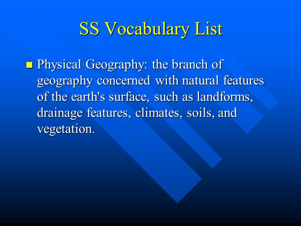 SS Vocabulary List