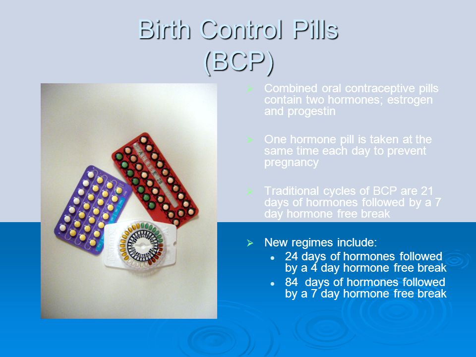 Birth Control Pills (BCP)