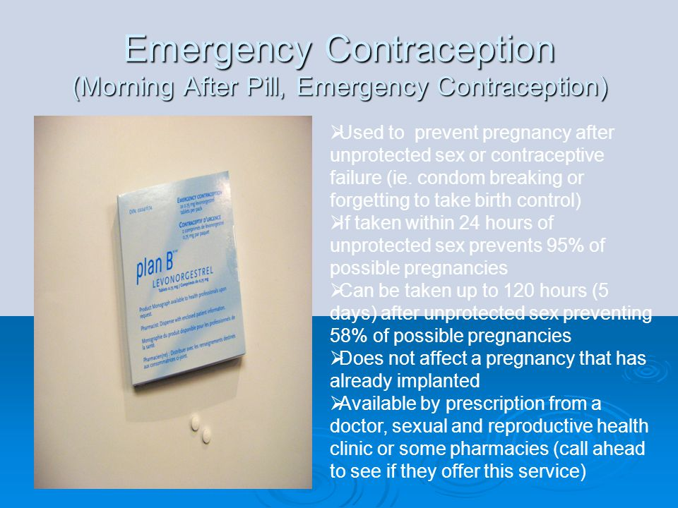 Emergency Contraception (Morning After Pill, Emergency Contraception)