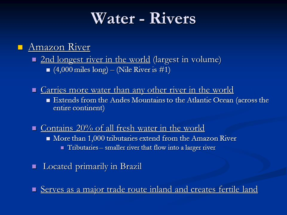 Water - Rivers Amazon River