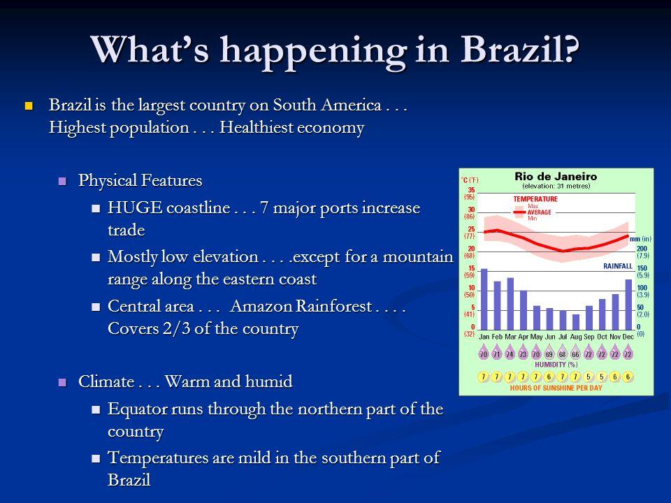 What's happening in Brazil