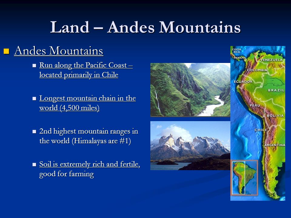 Land – Andes Mountains Andes Mountains