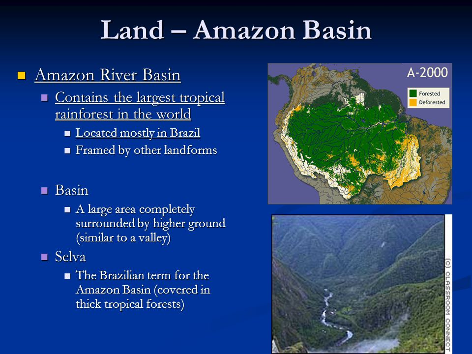 Land – Amazon Basin Amazon River Basin