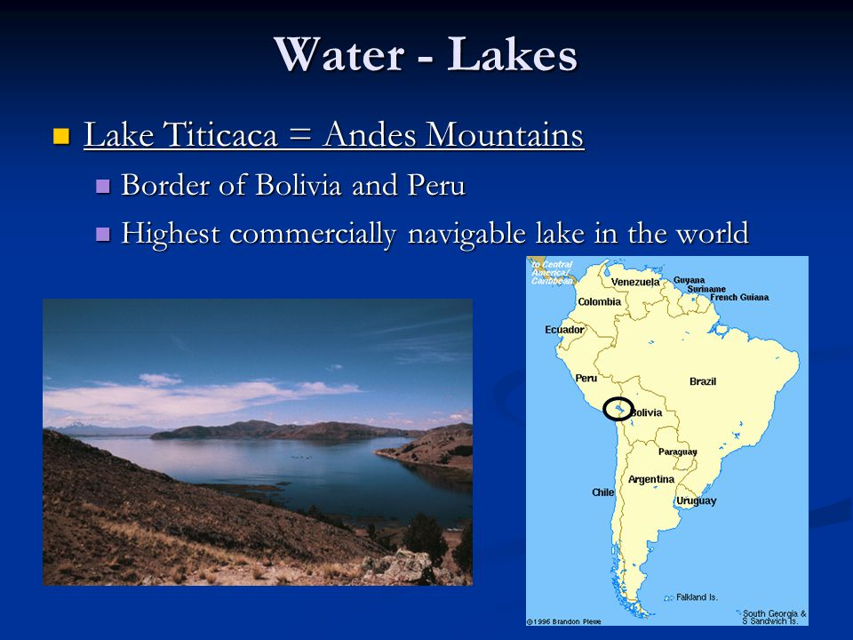 Water - Lakes Lake Titicaca = Andes Mountains