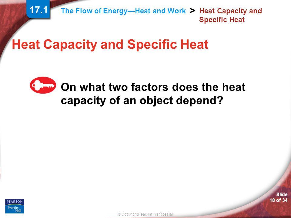 Heat Capacity and Specific Heat
