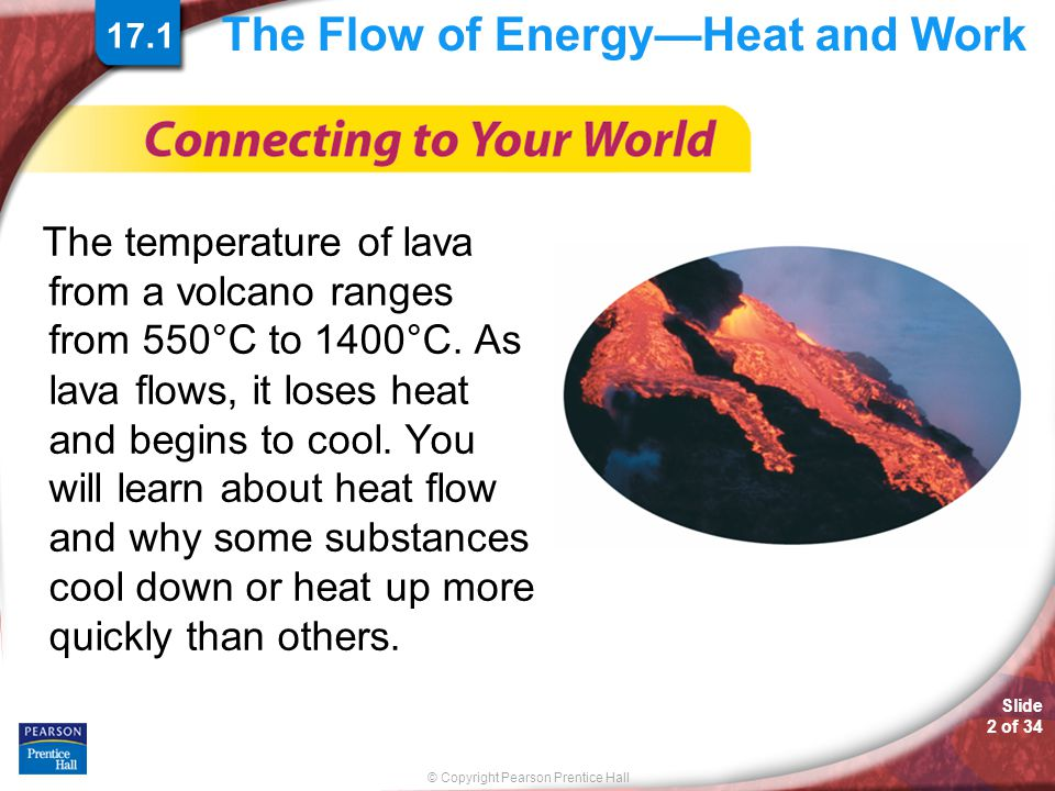 The Flow of Energy—Heat and Work