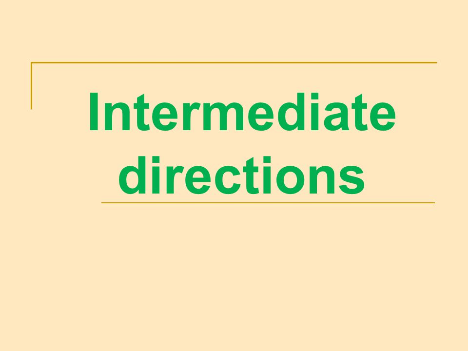 Intermediate directions