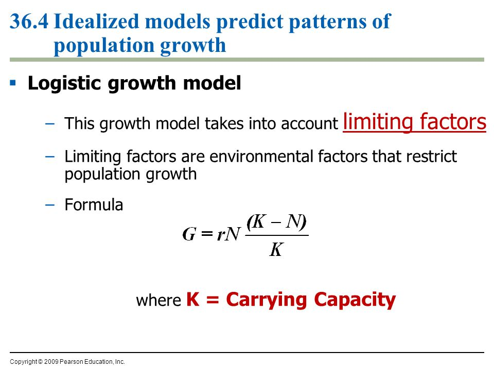 36.4 Idealized models predict patterns of population growth