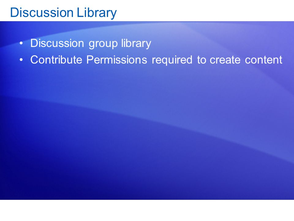 Discussion Library Discussion group library