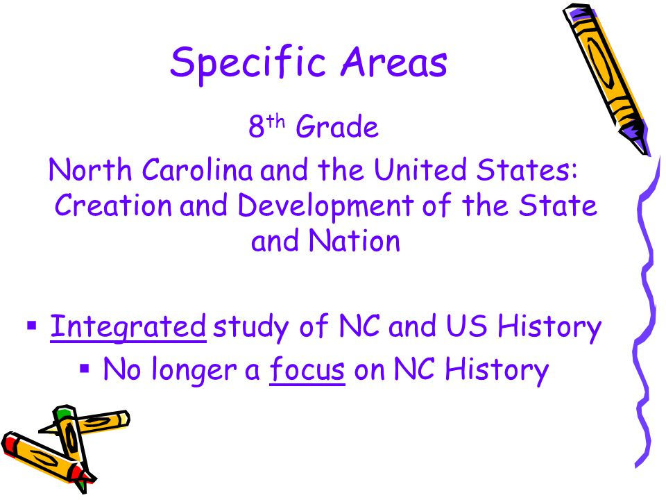 Specific Areas 8th Grade