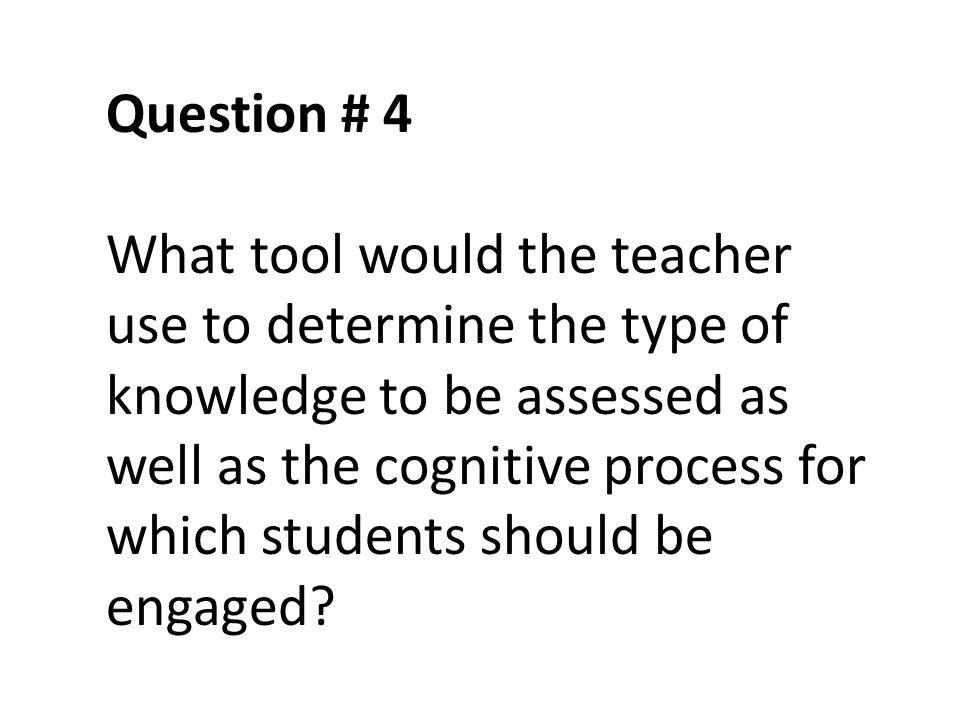 Question # 4