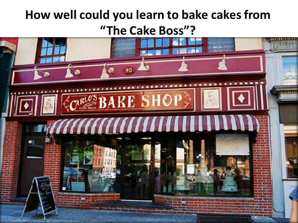 How well could you learn to bake cakes from