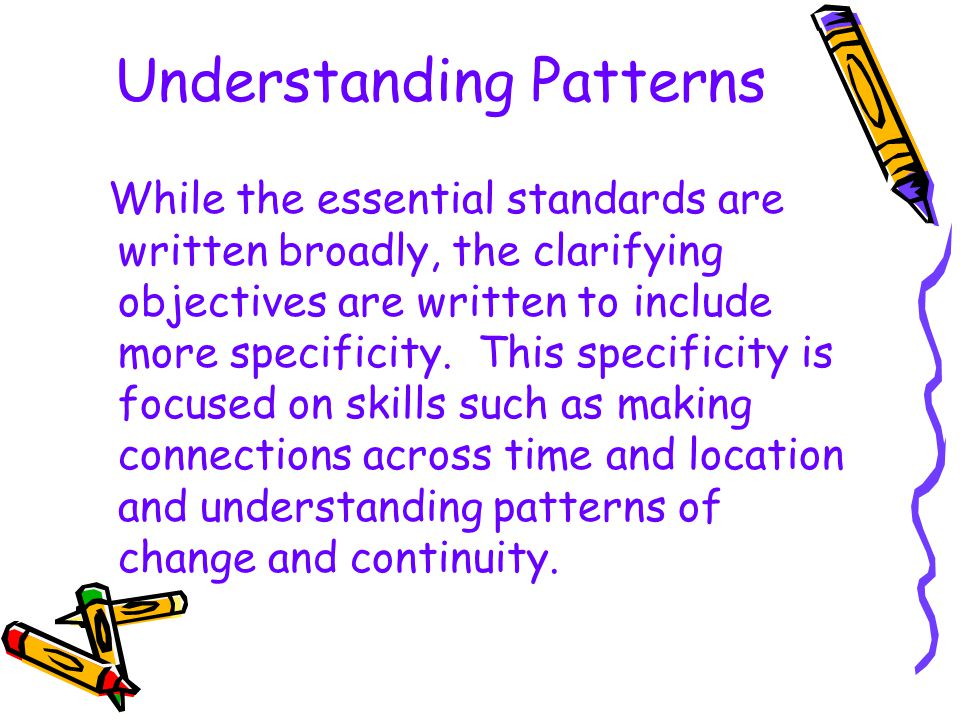 Understanding Patterns
