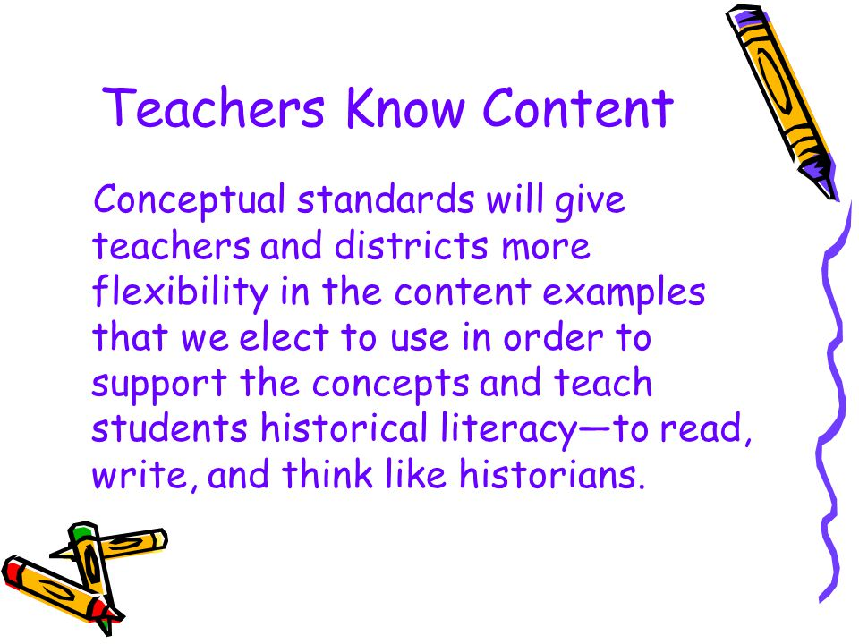 Teachers Know Content