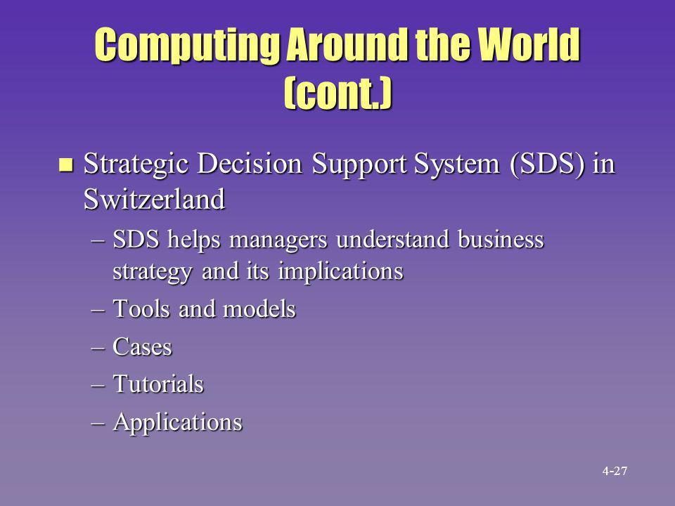 Computing Around the World (cont.)