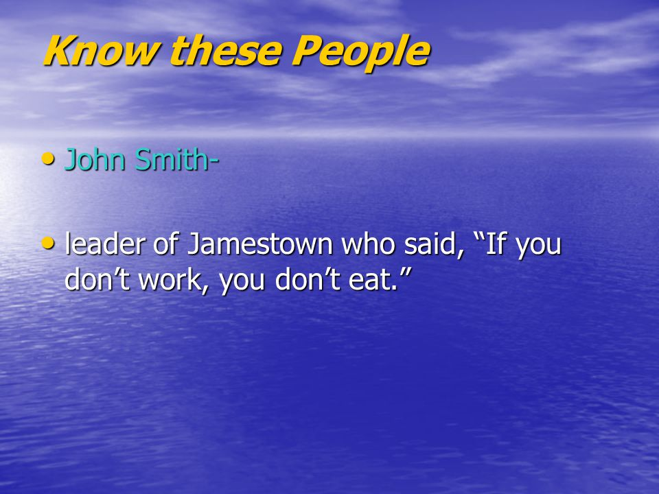 Know these People John Smith-