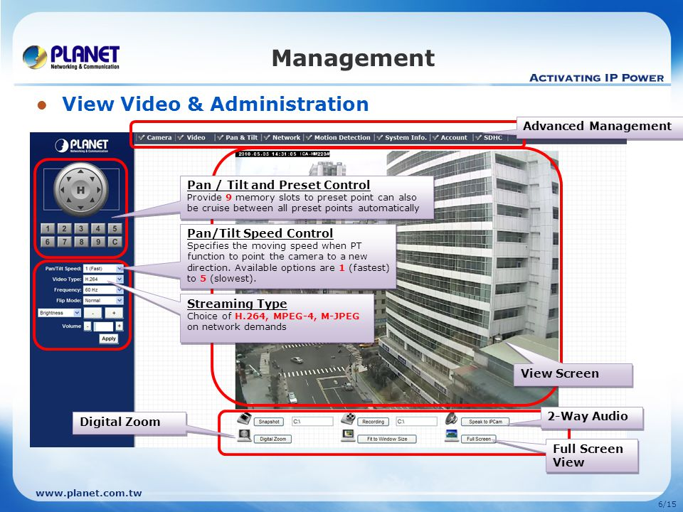 Management View Video & Administration Advanced Management