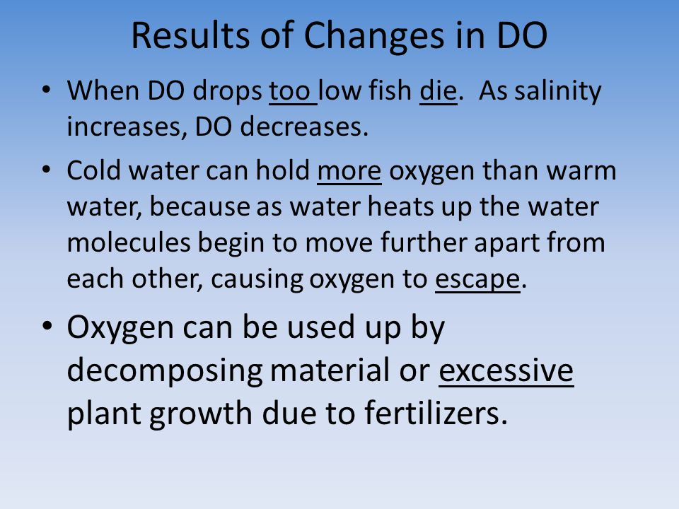 Results of Changes in DO