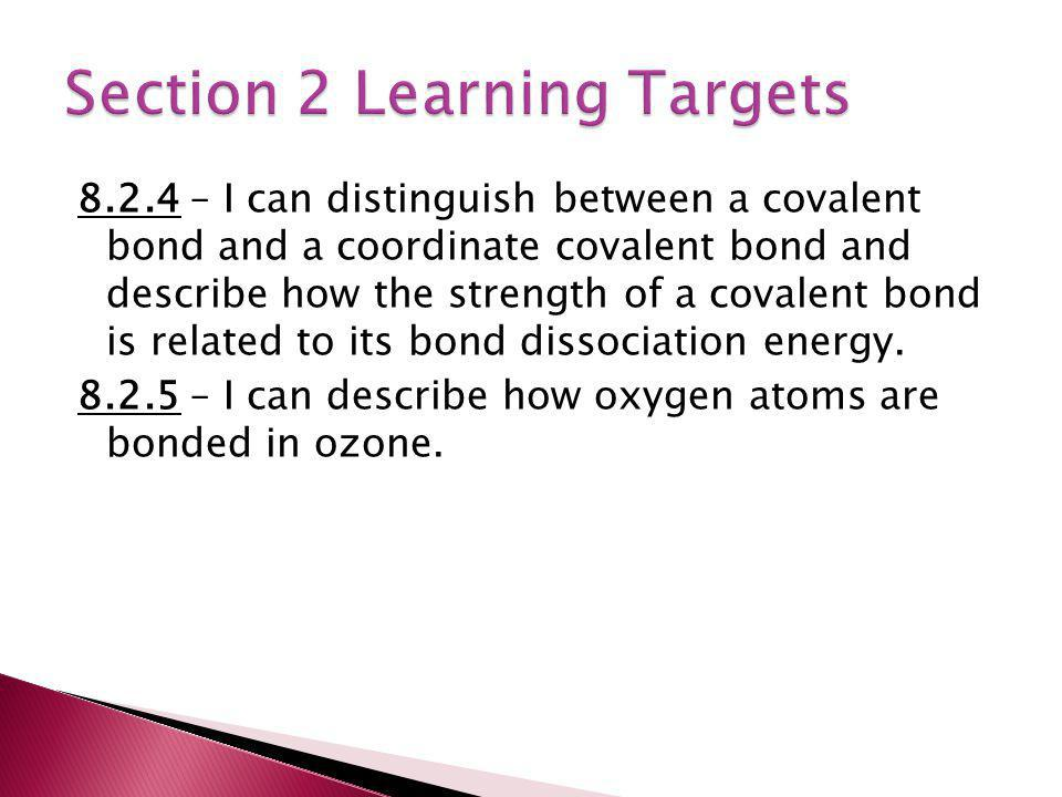 Section 2 Learning Targets