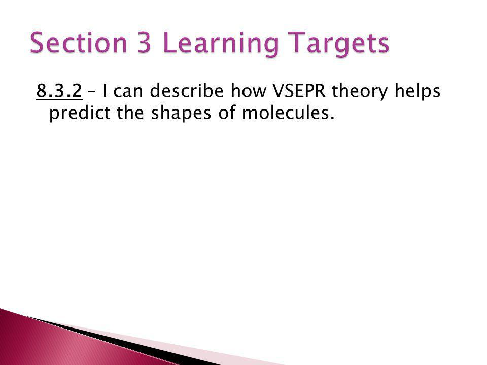 Section 3 Learning Targets