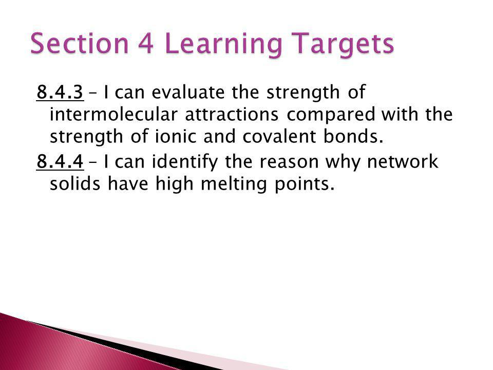 Section 4 Learning Targets