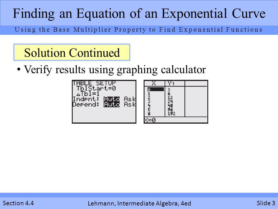 Verify results using graphing calculator