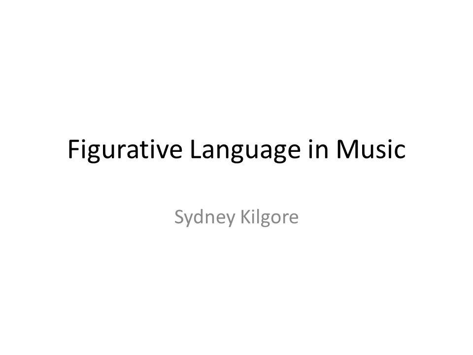 Figurative Language in Music